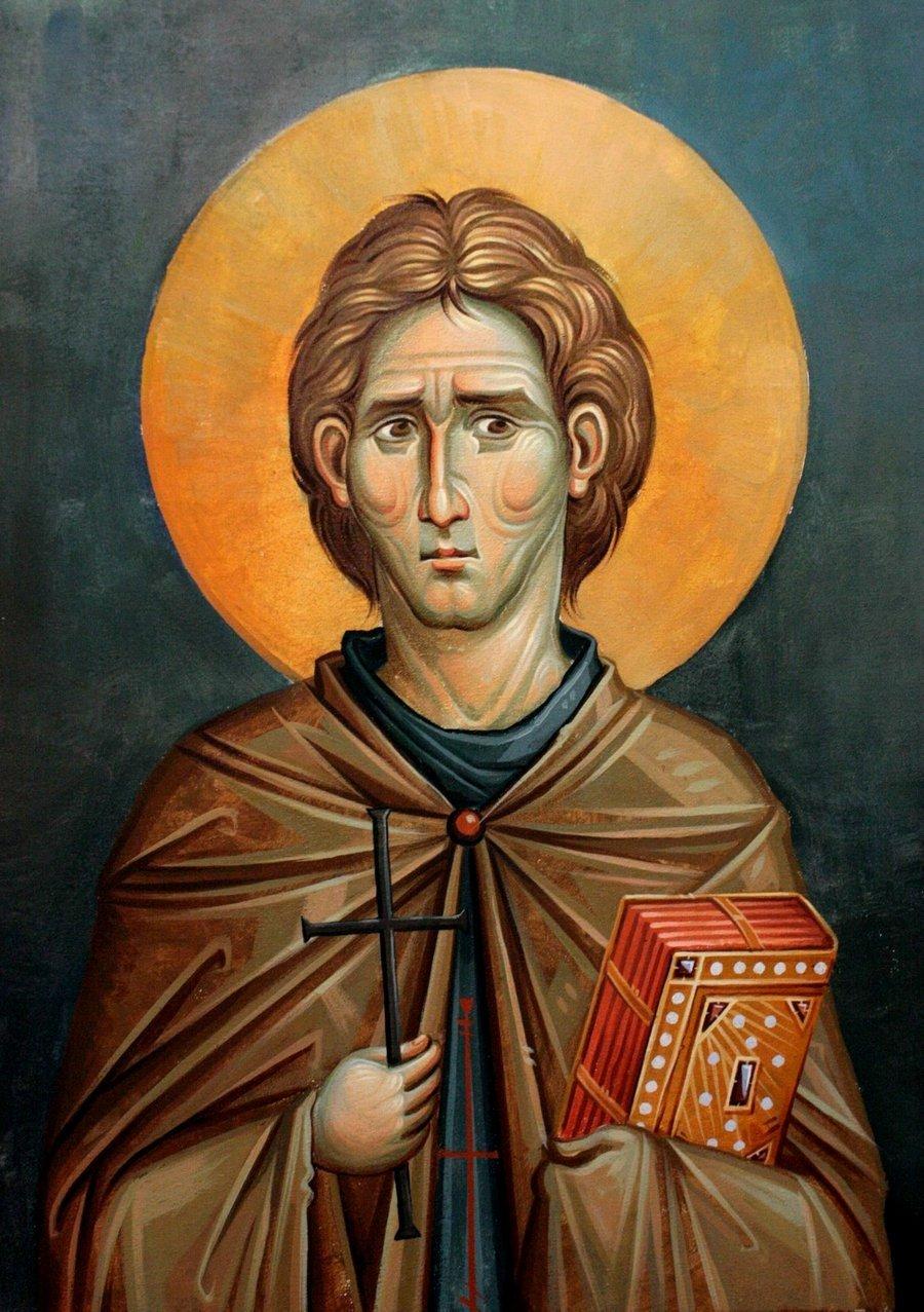 Святой Преподобный Иоанн Кущник. Иконописец Димитрис Маниатис.