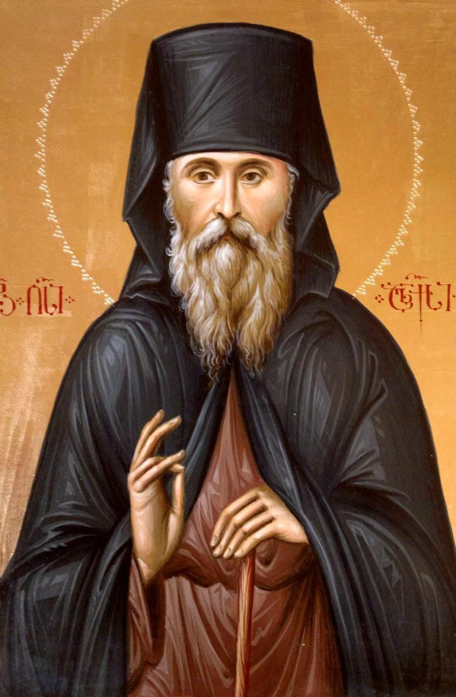 Святой Преподобный Алексий (Шушания), Сенакский, Теклатский. Иконописец Зураб Модебадзе.