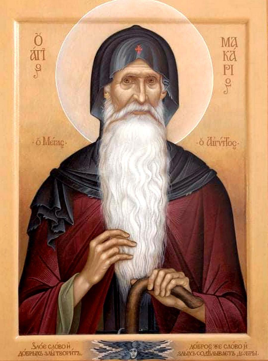Святой Преподобный Макарий Великий, Египетский. Иконописец Ирина Кузмина.