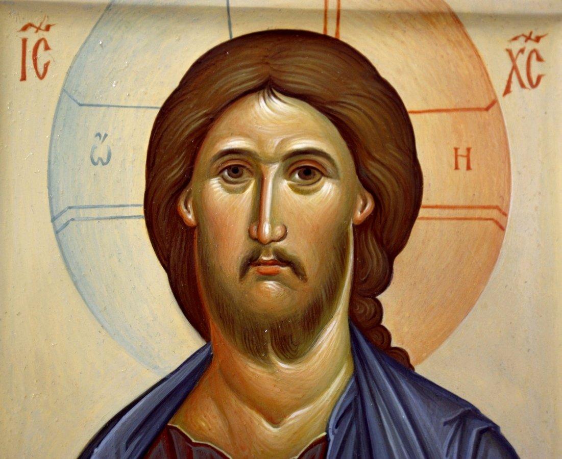 Господь Вседержитель. Иконописец Наталия Пискунова. Фрагмент иконы.
