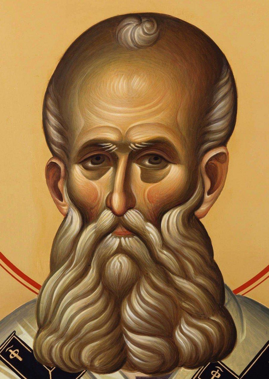 Святитель Григорий Богослов. Современная икона. Фрагмент.