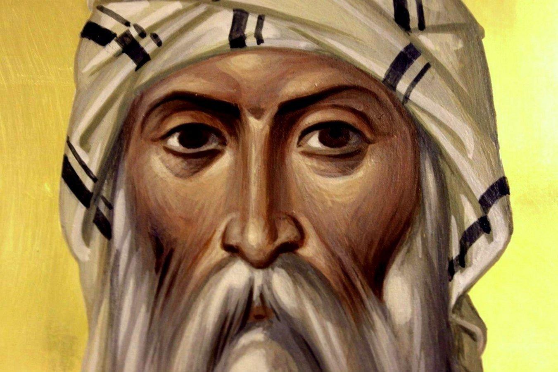 Святой Преподобный Исаак Сирин, Епископ Ниневийский. Иконописец архимандрит Зинон (Теодор).