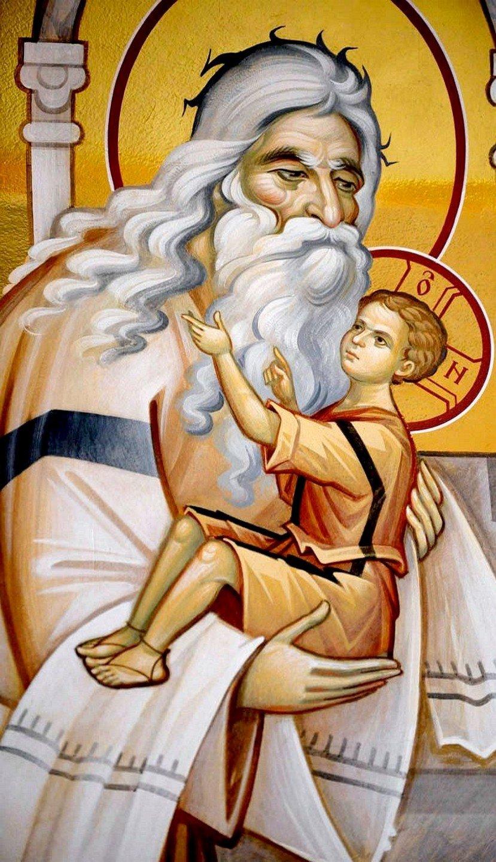 Святой Праведный Симеон Богоприимец. Современная церковная роспись.
