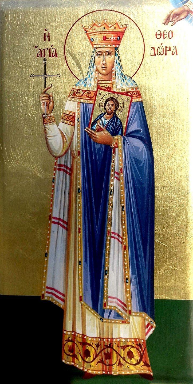 Святая Праведная Феодора, царица Греческая, восстановившая почитание святых икон.