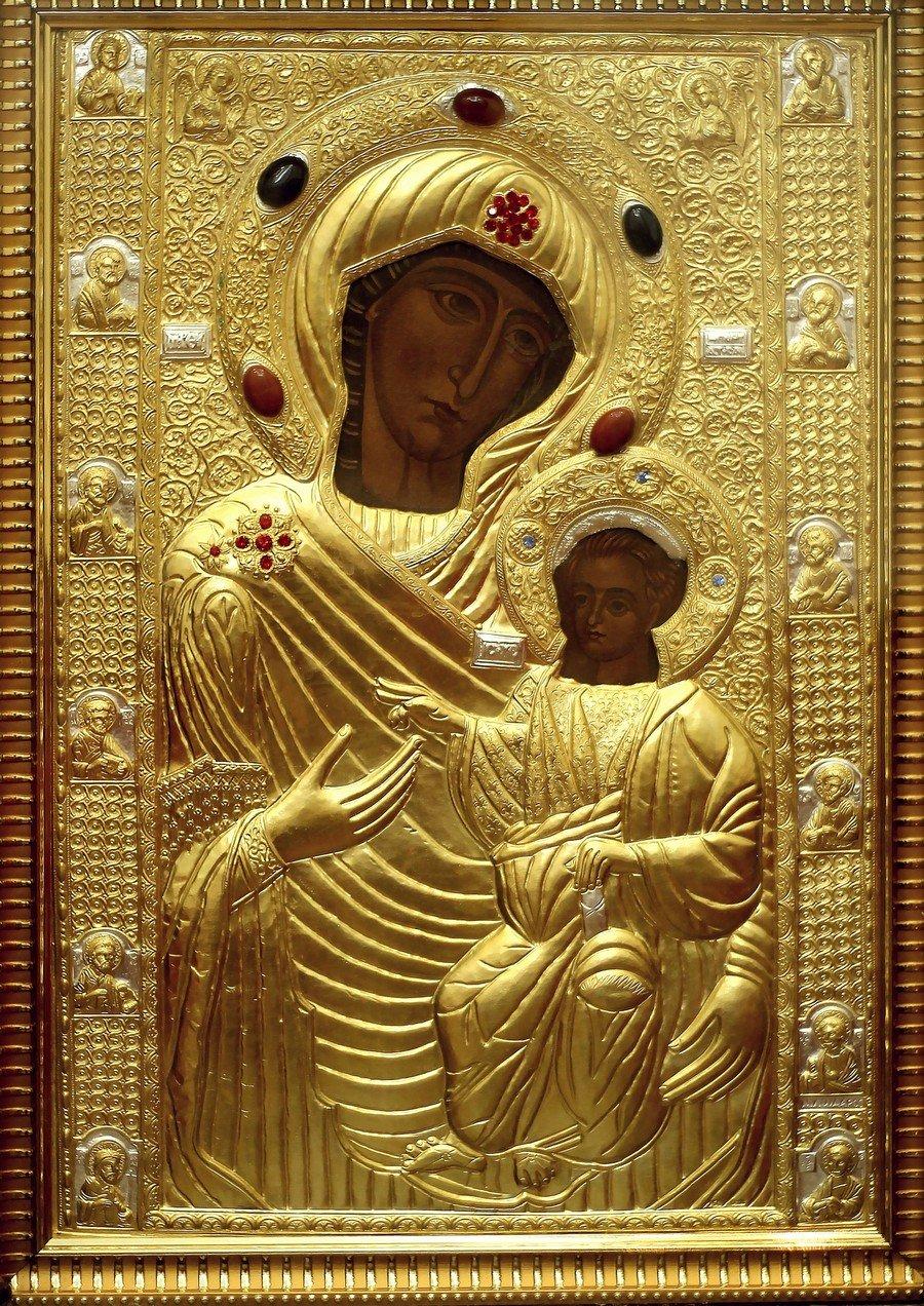 """Икона Божией Матери """"Царица, приносящая радость""""."""