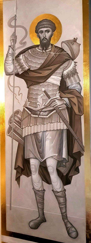 Святой Великомученик Феодор Тирон. Современная церковная роспись.