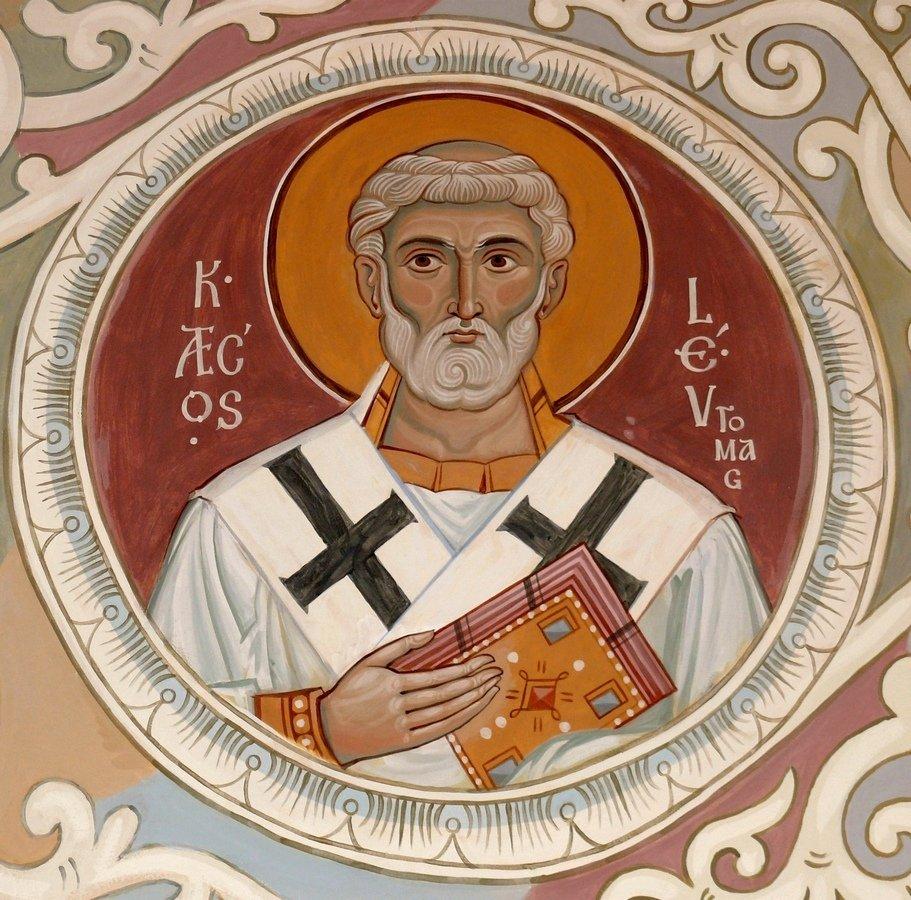Святитель Лев, Папа Римский. Иконописец Самсон Марзоев.
