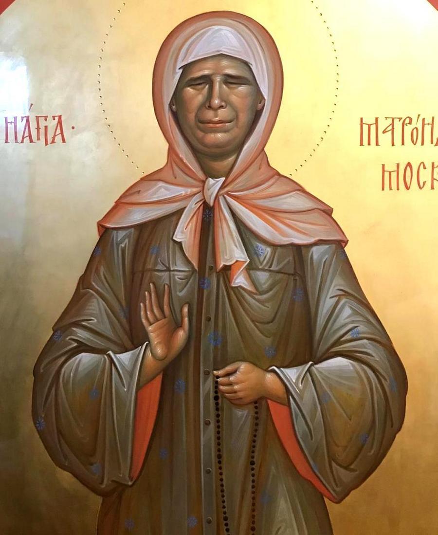 Святая Блаженная Матрона Московская. Иконописец Наталия Пискунова.