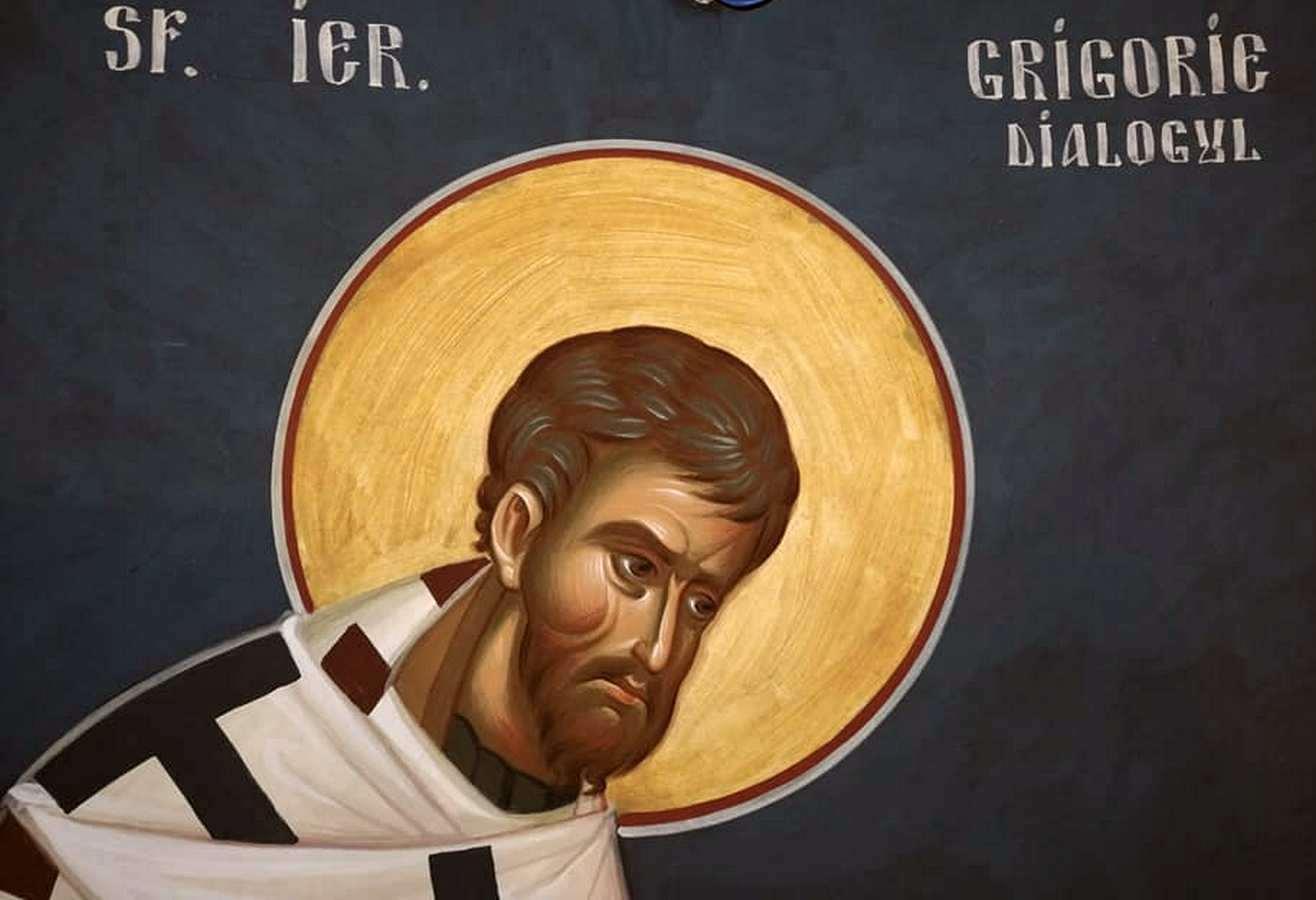 Святитель Григорий Двоеслов, Папа Римский. Современная румынская фреска.