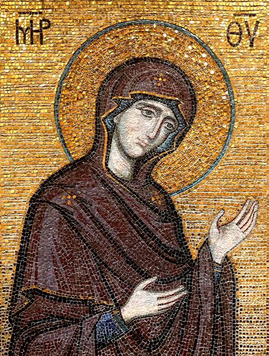 """Икона Божией Матери """"Агиосоритисса"""". Современная мозаика."""