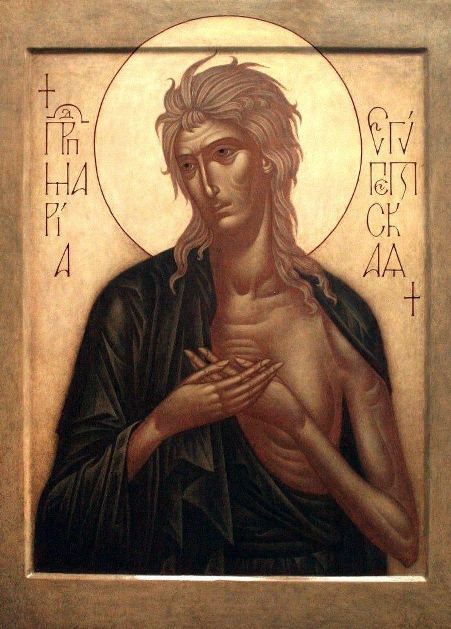 Святая Преподобная Мария Египетская. Иконописец Ирина Зарон.