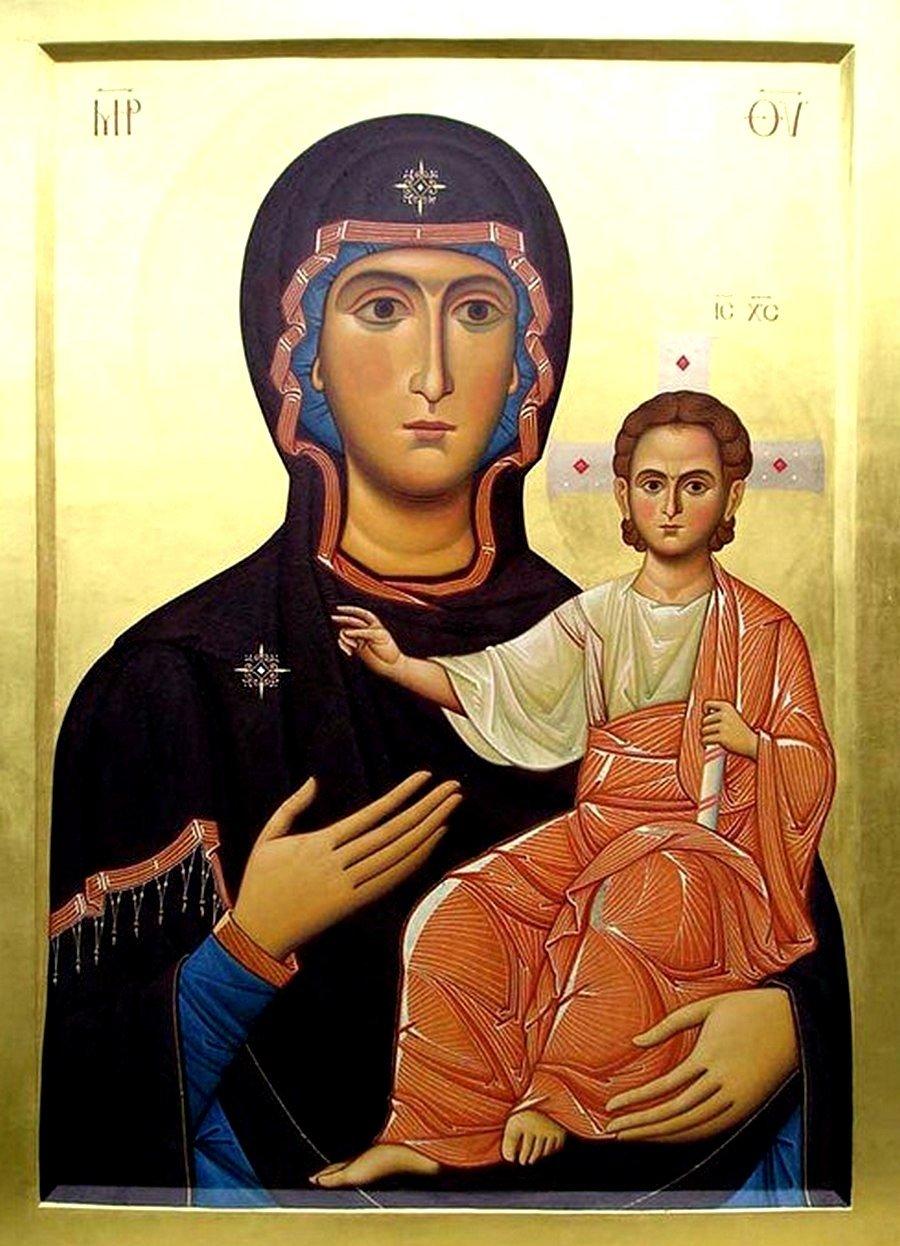 Моздокская икона Божией Матери. Иконописец Самсон Марзоев.
