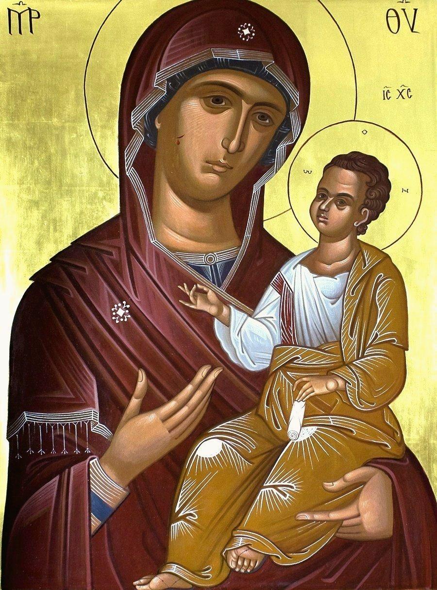 Иверская икона Божией Матери. Иконописец Михаил Лимонов.