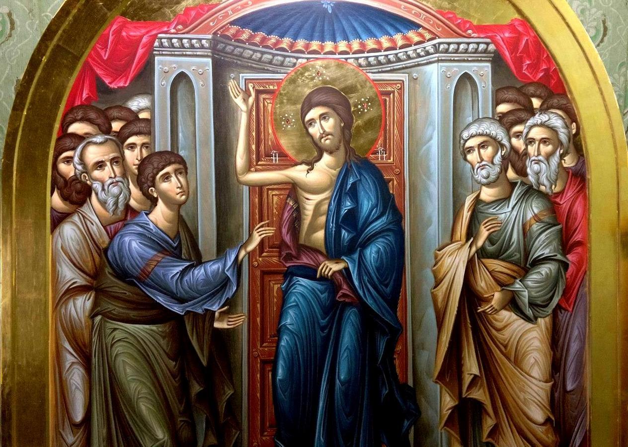 Уверение Апостола Фомы. Иконописец Зураб Модебадзе.