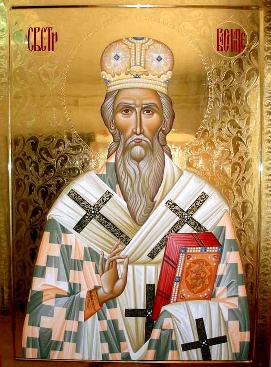 Святитель Василий Острожский, Митрополит Захолмский, Чудотворец. Современная сербская икона.