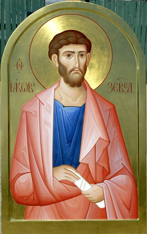 Святой Апостол Иаков Зеведеев. Современная икона.
