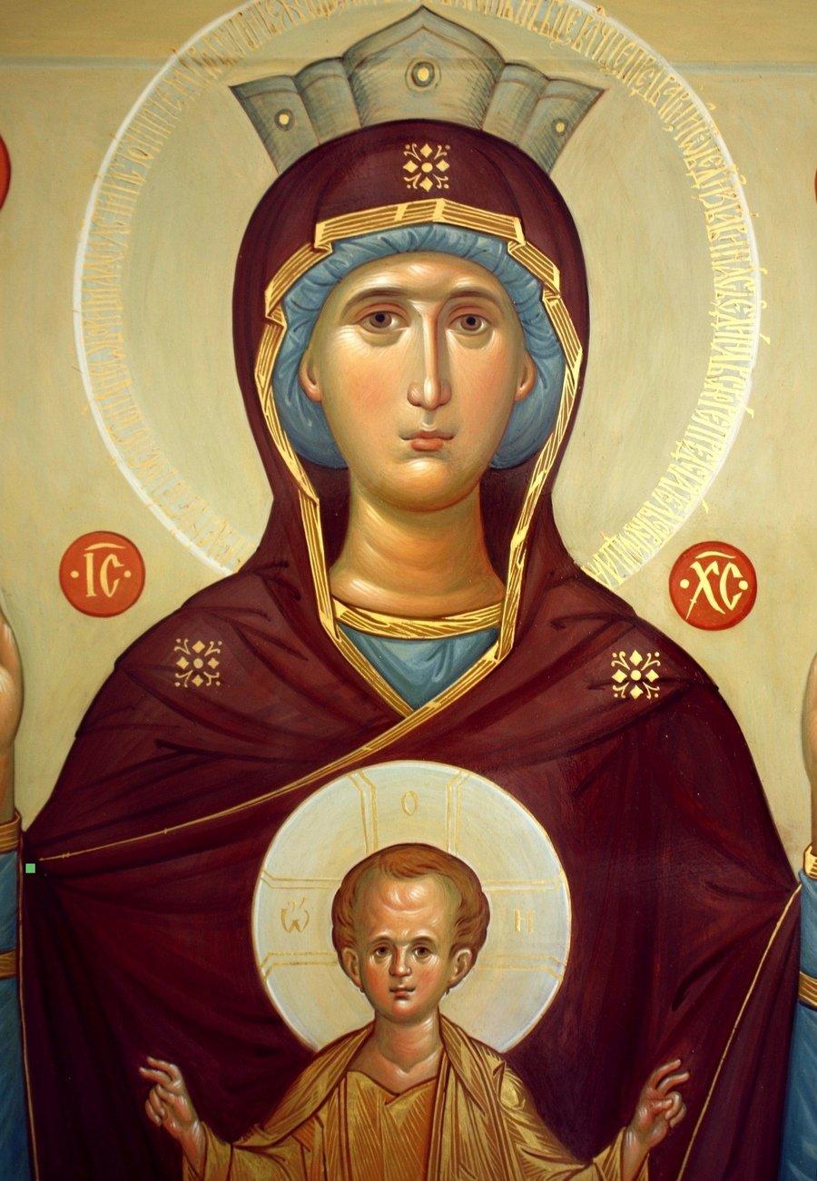 "Икона Божией Матери ""Неупиваемая Чаша"". Иконописец Наталия Пискунова. Фрагмент."
