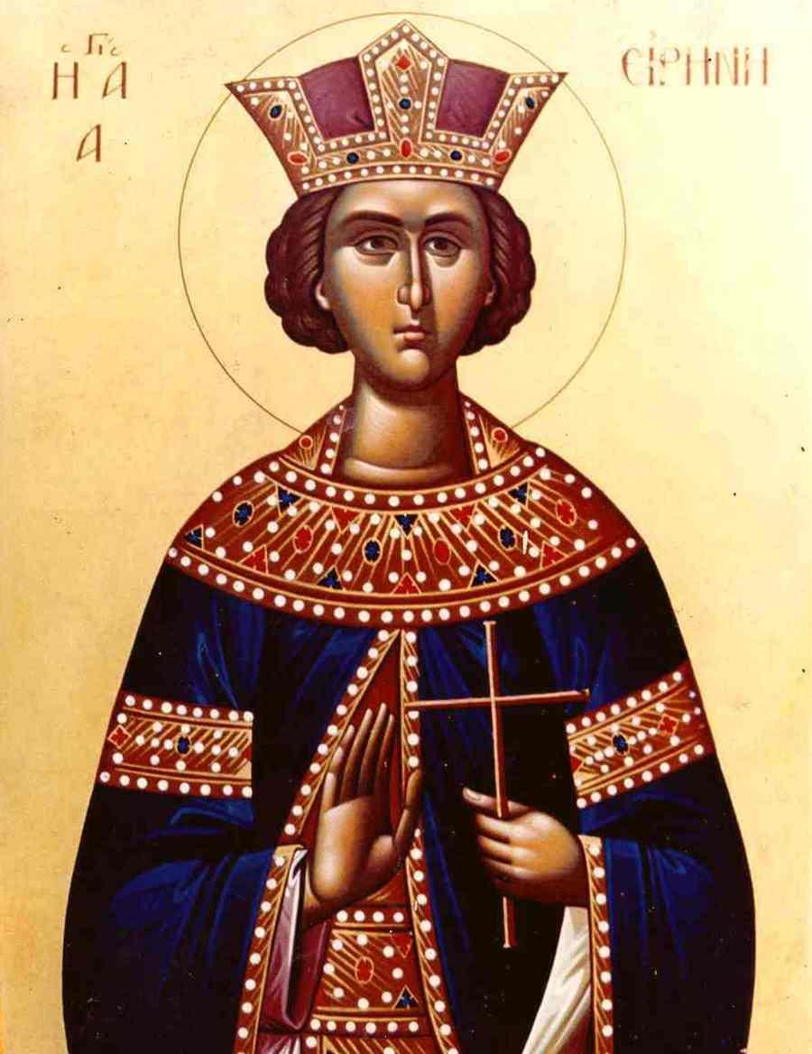 Святая Великомученица Ирина Македонская. Современная икона.