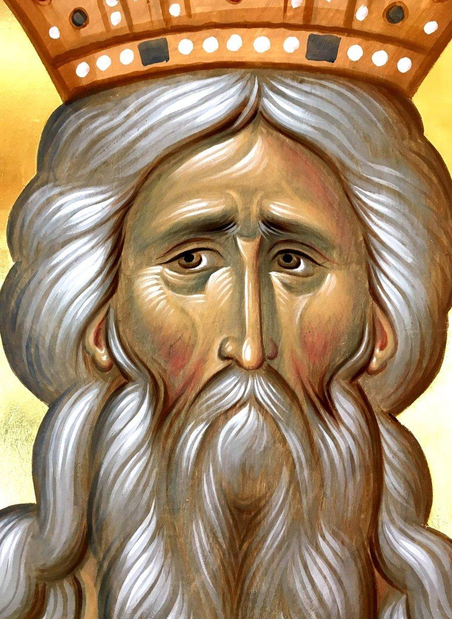 Святой Праведный Мелхиседек, царь Салимский, священник Бога Всевышнего. Иконописец Александр Деркачёв.
