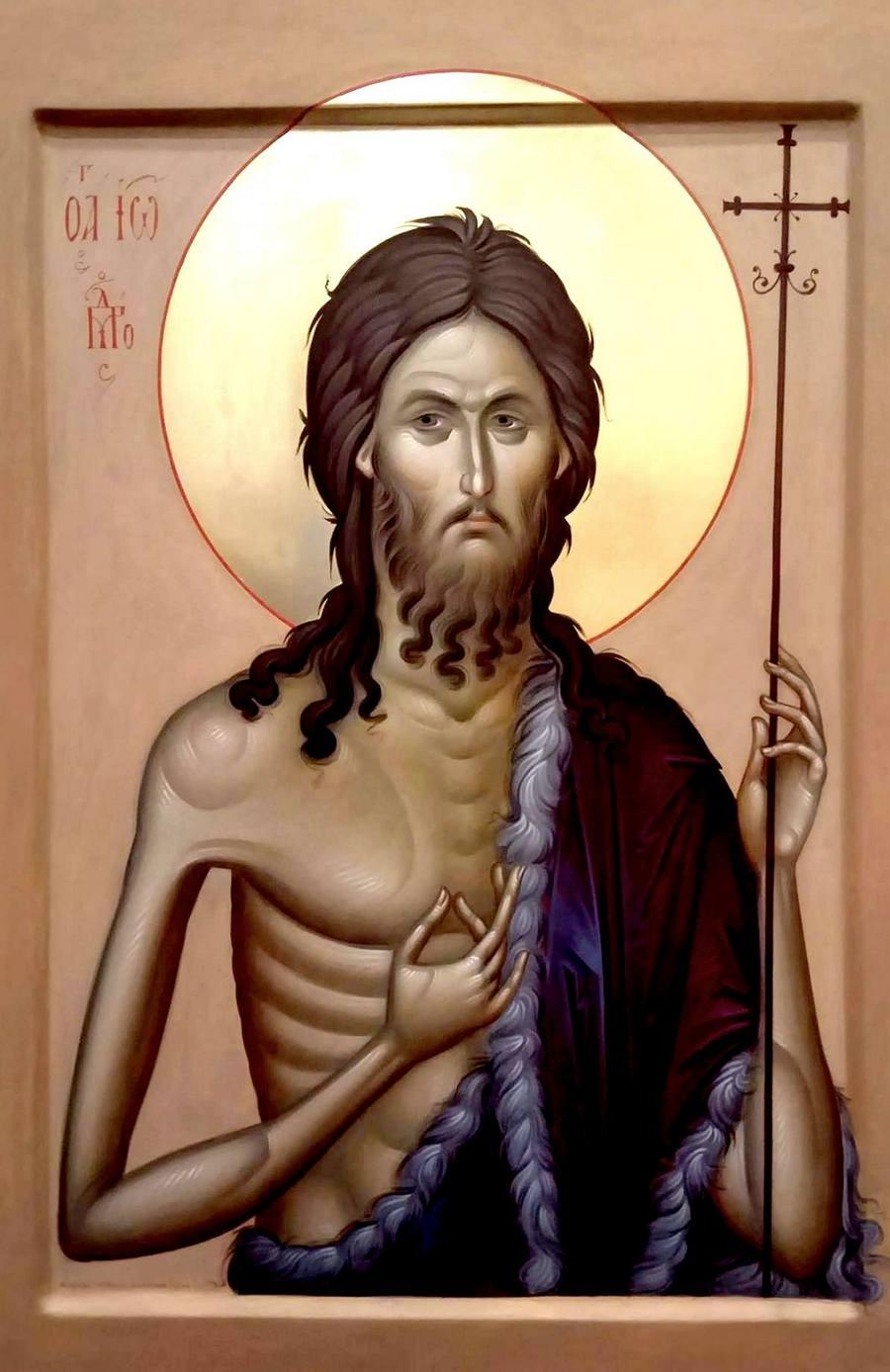 Святой Пророк, Предтеча и Креститель Господень Иоанн. Современная икона.