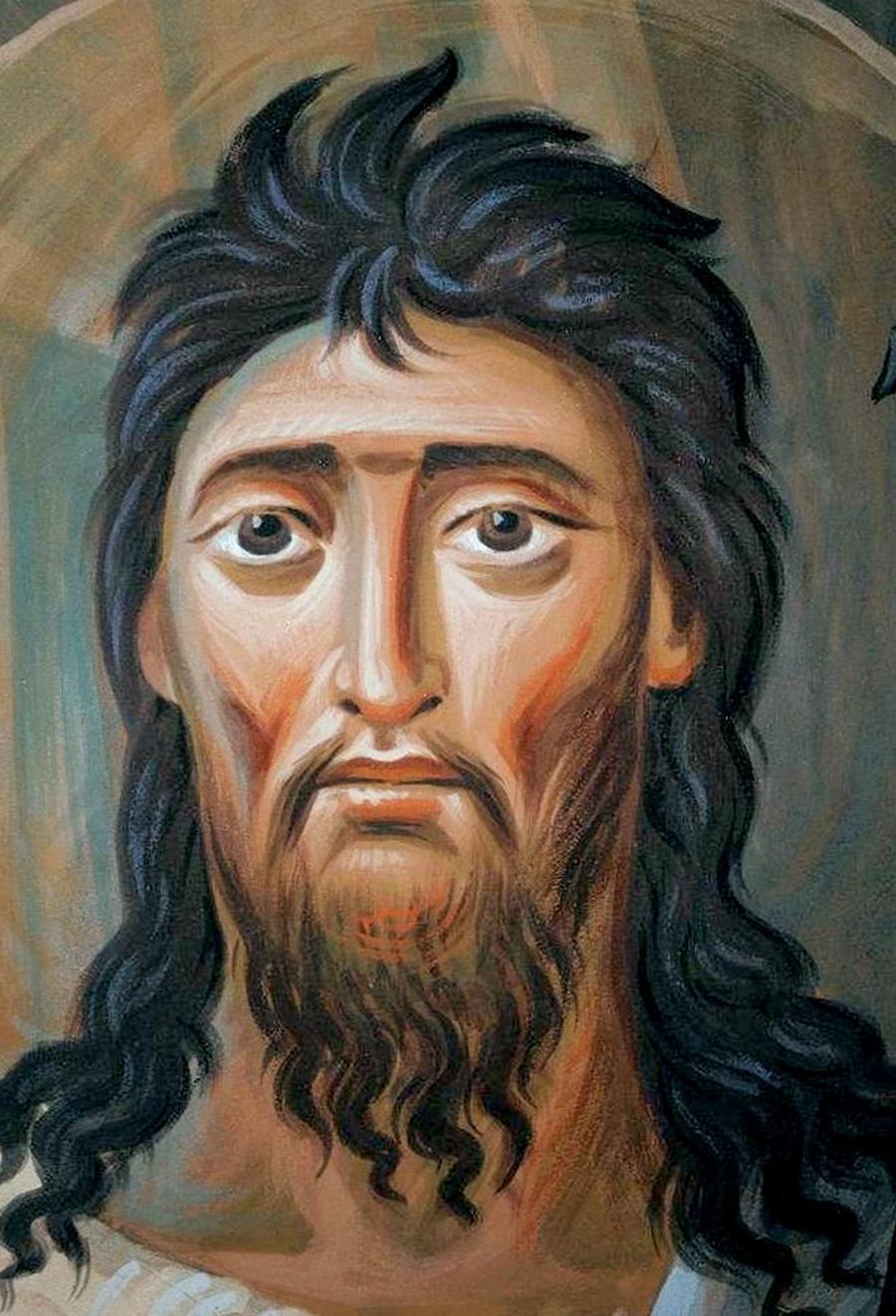Святой Пророк, Предтеча и Креститель Господень Иоанн. Современная церковная роспись.
