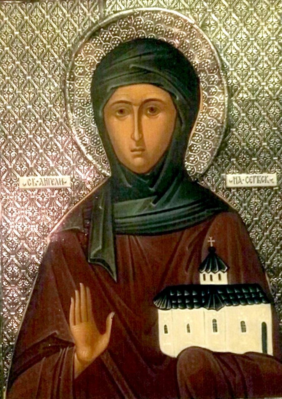 Святая Преподобная Ангелина, деспотисса Сербская. Иконописец Михаил Лимонов.