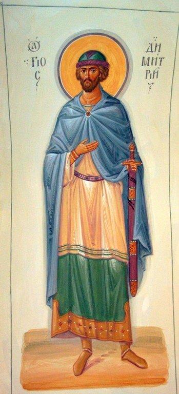 Святой Благоверный Великий Князь Димитрий Донской. Иконописец Самсон Марзоев.