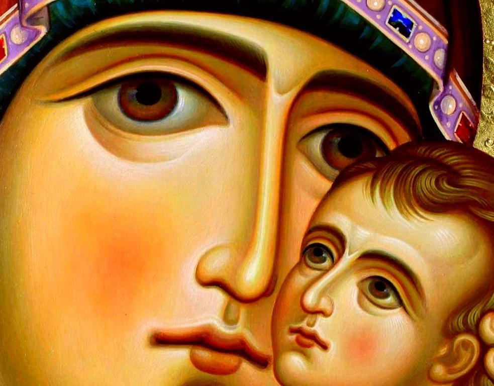 """Икона Божией Матери """"Ты еси Лоза"""" (""""Шен хар Венахи""""). Фрагмент."""