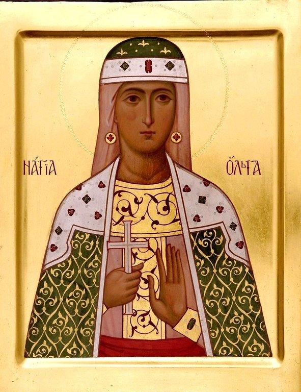 Святая Равноапостольная Княгиня Ольга. Современная икона.