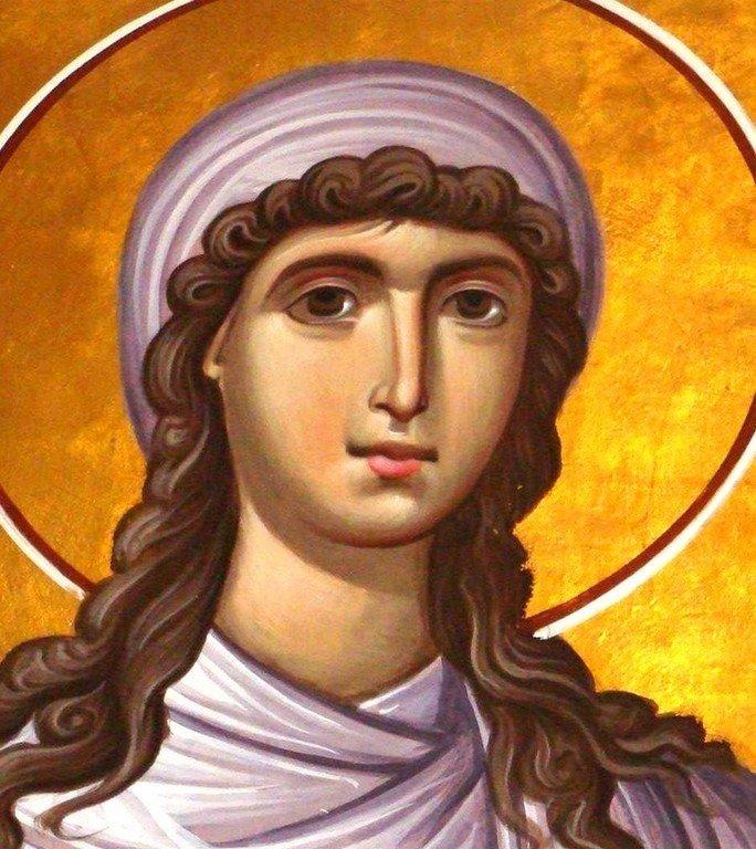 Святая Мироносица Равноапостольная Мария Магдалина. Иконописец Зураб Модебадзе.
