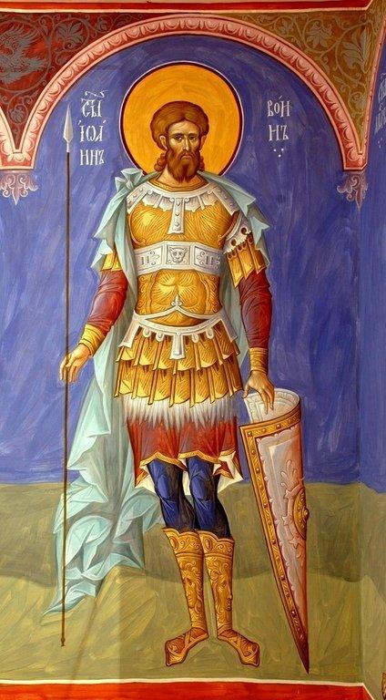 Святой Мученик Иоанн Воин. Иконописец Александр Деркачёв.