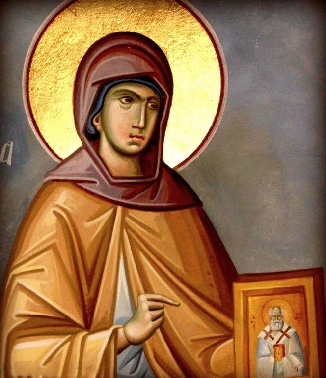 Святая Праведная Нонна, мать Святителя Григория Богослова.