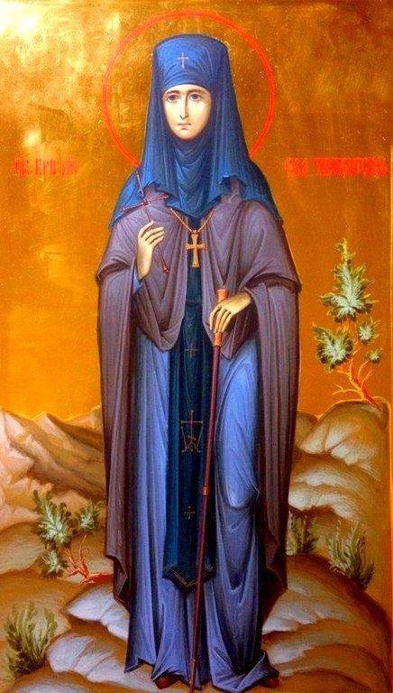 Святая Преподобномученица Ева (Павлова). Иконописец Зураб Модебадзе.