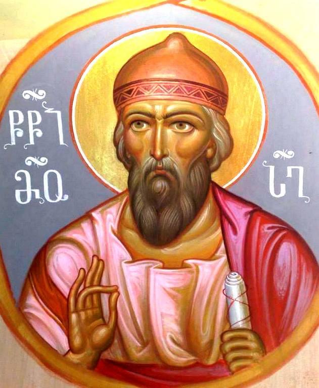 Святой Пророк Моисей Боговидец. Современная грузинская фреска.