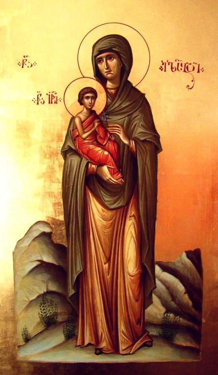 Святая Праведная Елисавета, мать Святого Иоанна Предтечи. Иконописец Зураб Модебадзе.