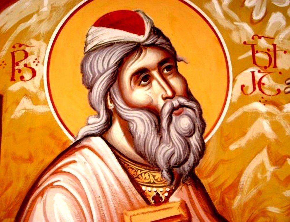 Святой Пророк Захария, отец Святого Иоанна Предтечи. Иконописец Зураб Модебадзе.