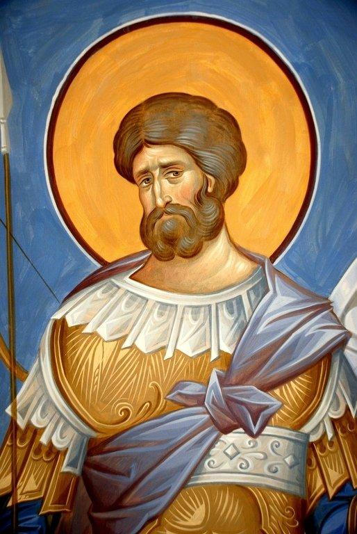 Святой Великомученик Евстафий Плакида. Иконописец Александр Деркачёв.