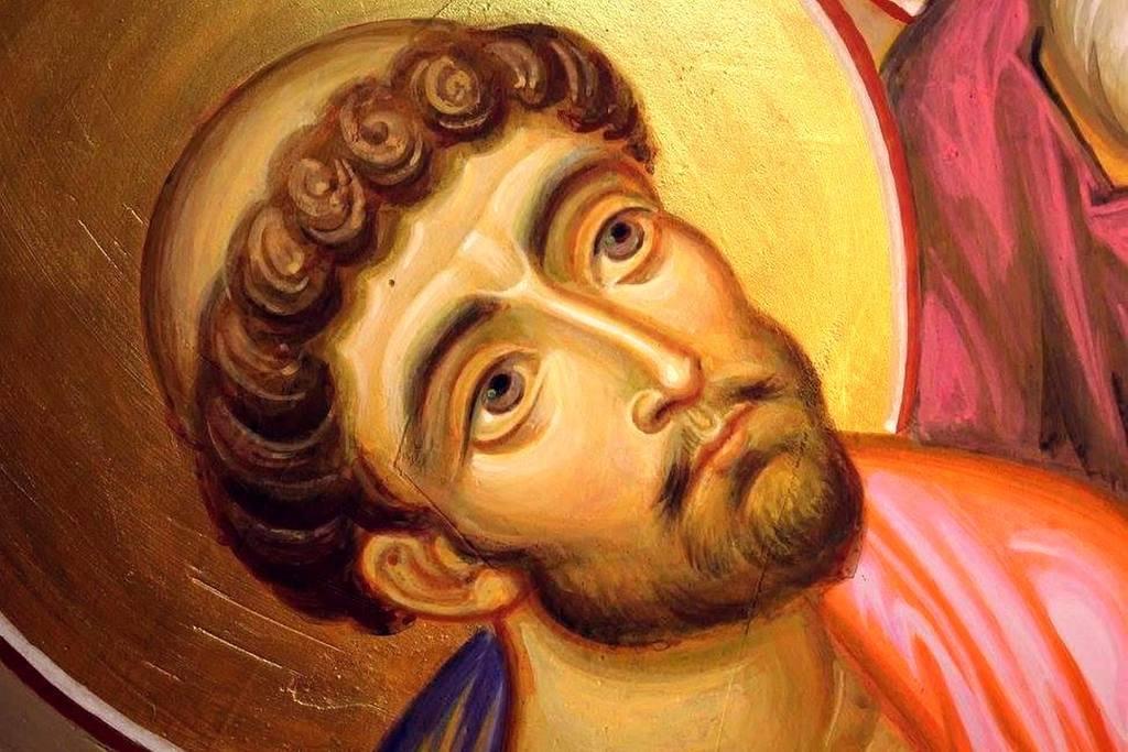 Святой Апостол и Евангелист Лука. Современная грузинская фреска.