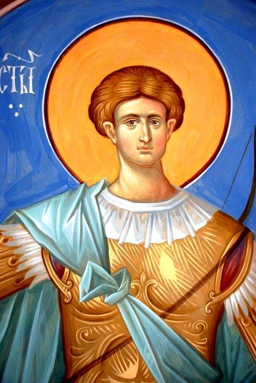 Святой Великомученик Димитрий Солунский. Иконописец Александр Деркачёв.