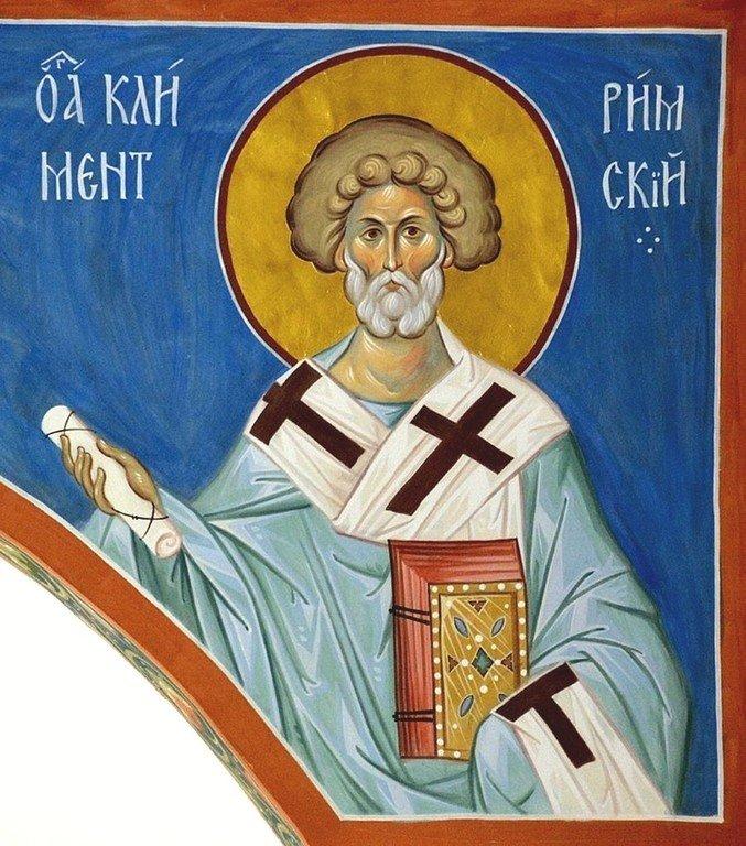 Священномученик Климент, Папа Римский. Современная церковная роспись.