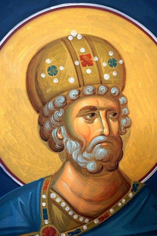 Святой Пророк Царь Давид. Современная румынская фреска.