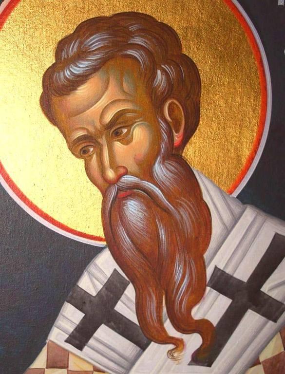 Святитель Григорий, Епископ Нисский. Иконописец Хрисанфос Караяннакис.
