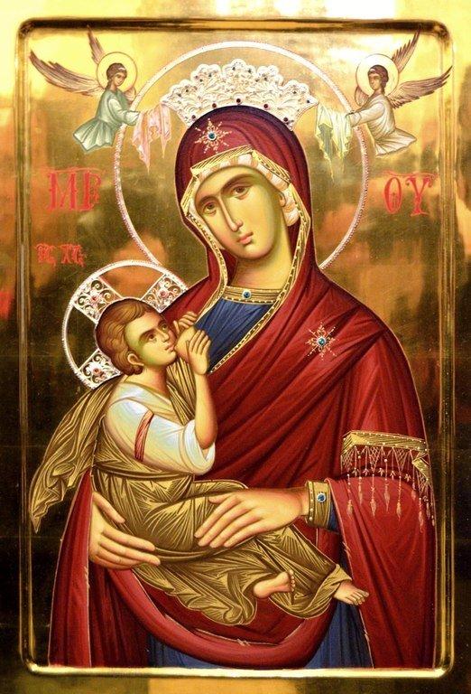 """Икона Божией Матери """"Млекопитательница"""". Написана в монастыре Жича (Сербия)."""