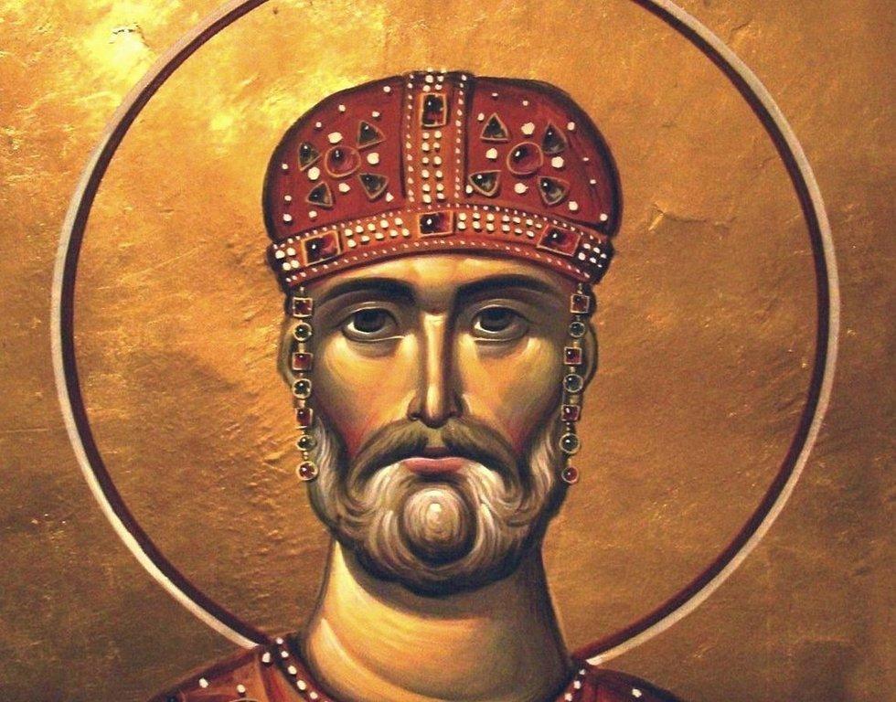 Святой Благоверный Давид Возобновитель (Строитель), Царь Иверии и Абхазии. Иконописец Зураб Модебадзе.