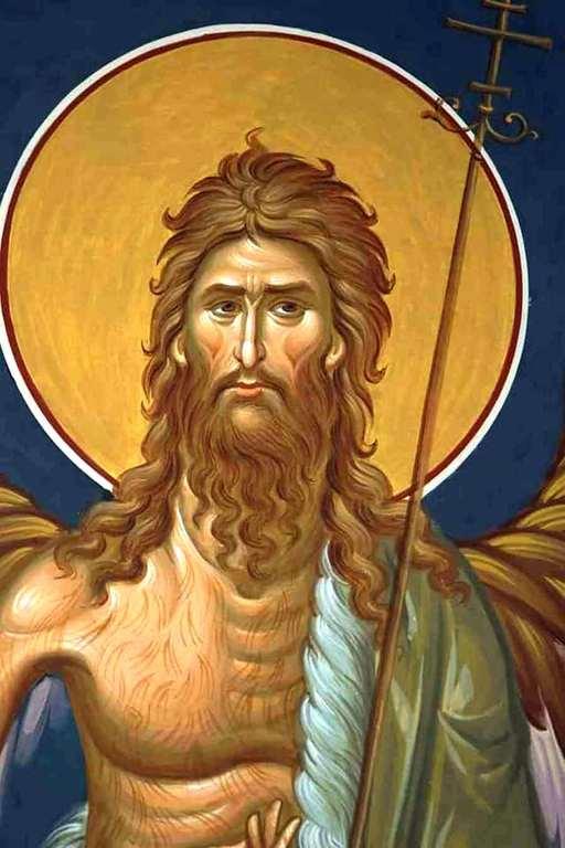 Святой Иоанн Предтеча Ангел пустыни.На этой фреске Святой Иоанн Предтеча изображён с Ангельскими крыльями как великий подвижник и пустынножитель, своим житием уподобившийся Ангелам.