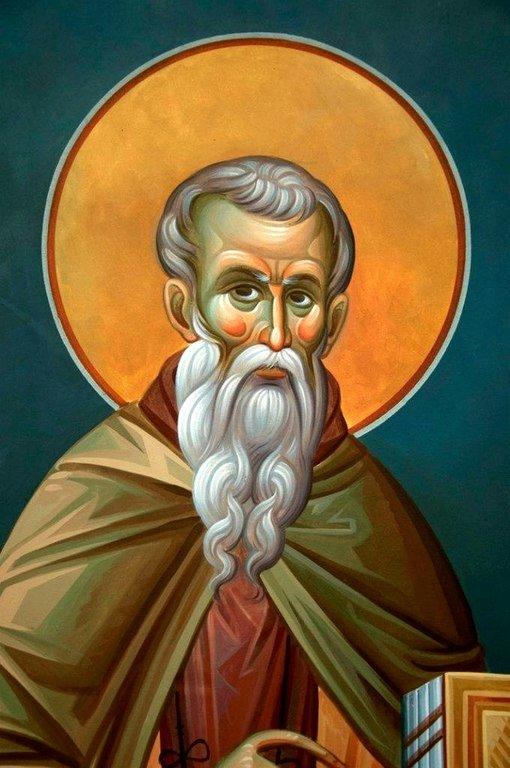 Святой Преподобный Иоанн Лествичник. Современная церковная роспись.