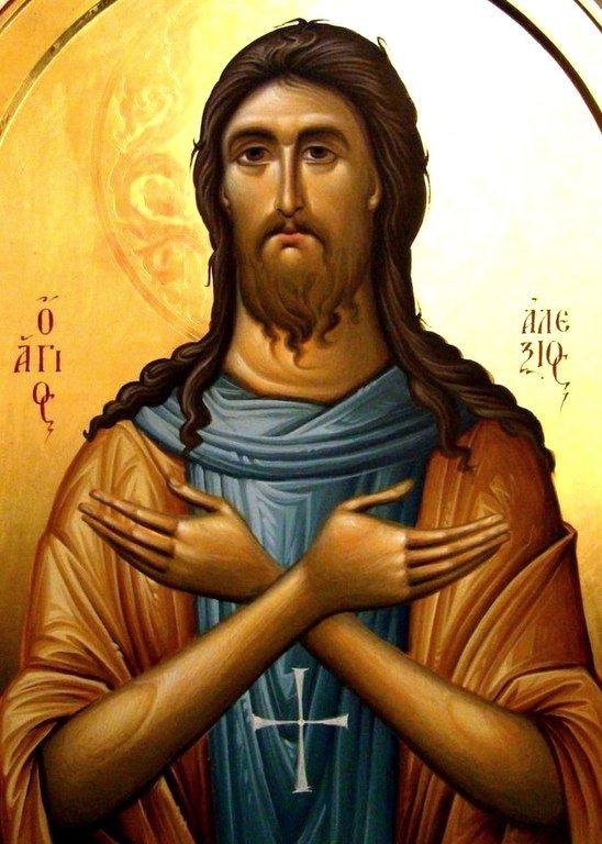 Святой Преподобный Алексий, человек Божий. Иконописец Зураб Модебадзе.