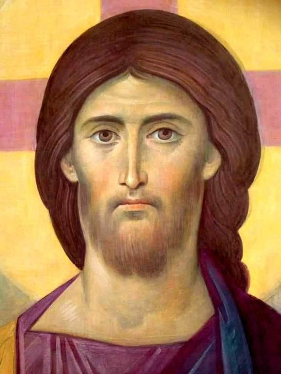 Лик Спасителя. Роспись храма Новомучеников и Исповедников Российских в Беслане.