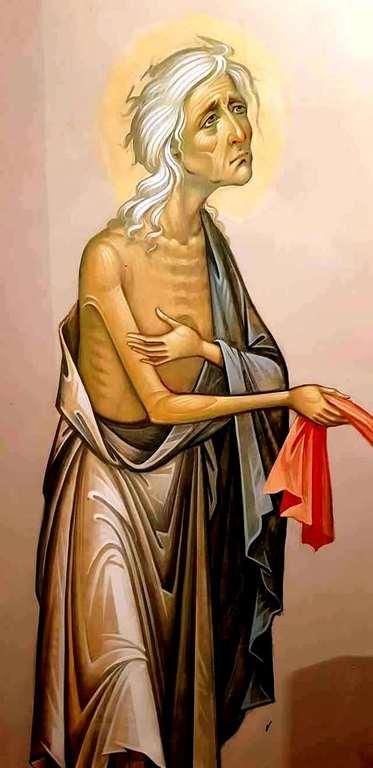 Святая Преподобная Мария Египетская. Современная церковная роспись.