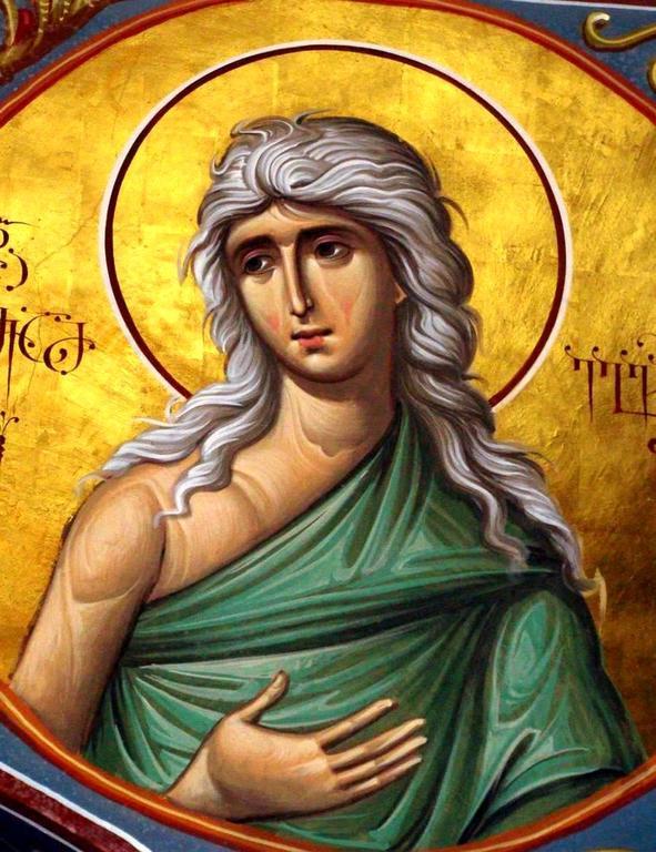 Святая Преподобная Мария Египетская. Иконописец Зураб Модебадзе.